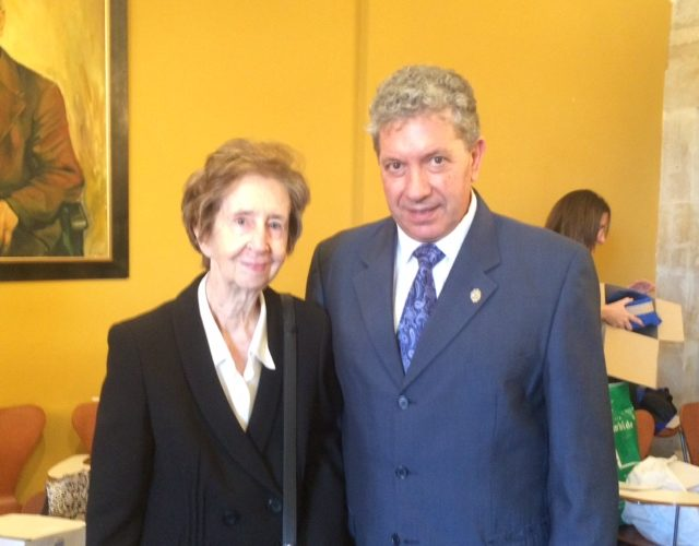 margarita Salas y Fernando González